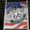 Picture of Route 66 Speedway sign from NMRA racing qualifiing day July 17, 2010 Joliet Illinois.