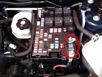 Chevy Equinox Main Mega fuse Location.